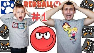 Red Ball 4 Прохождение Игры [#1] | Приключения Красного Шарика | Ред Бол На Русском | Матвей Котофей