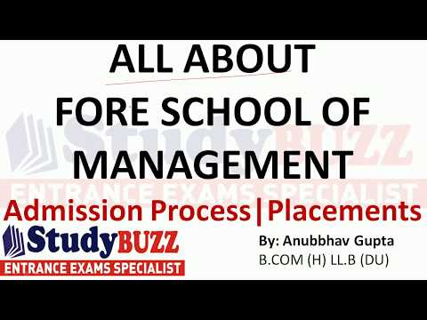 All about FORE school of management | Admissions- Placements- Courses- Cut Offs