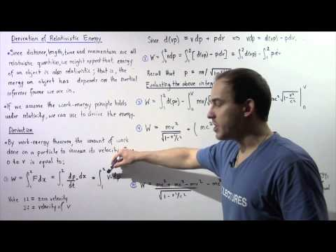 Relativistic Kinetic Energy Derivation