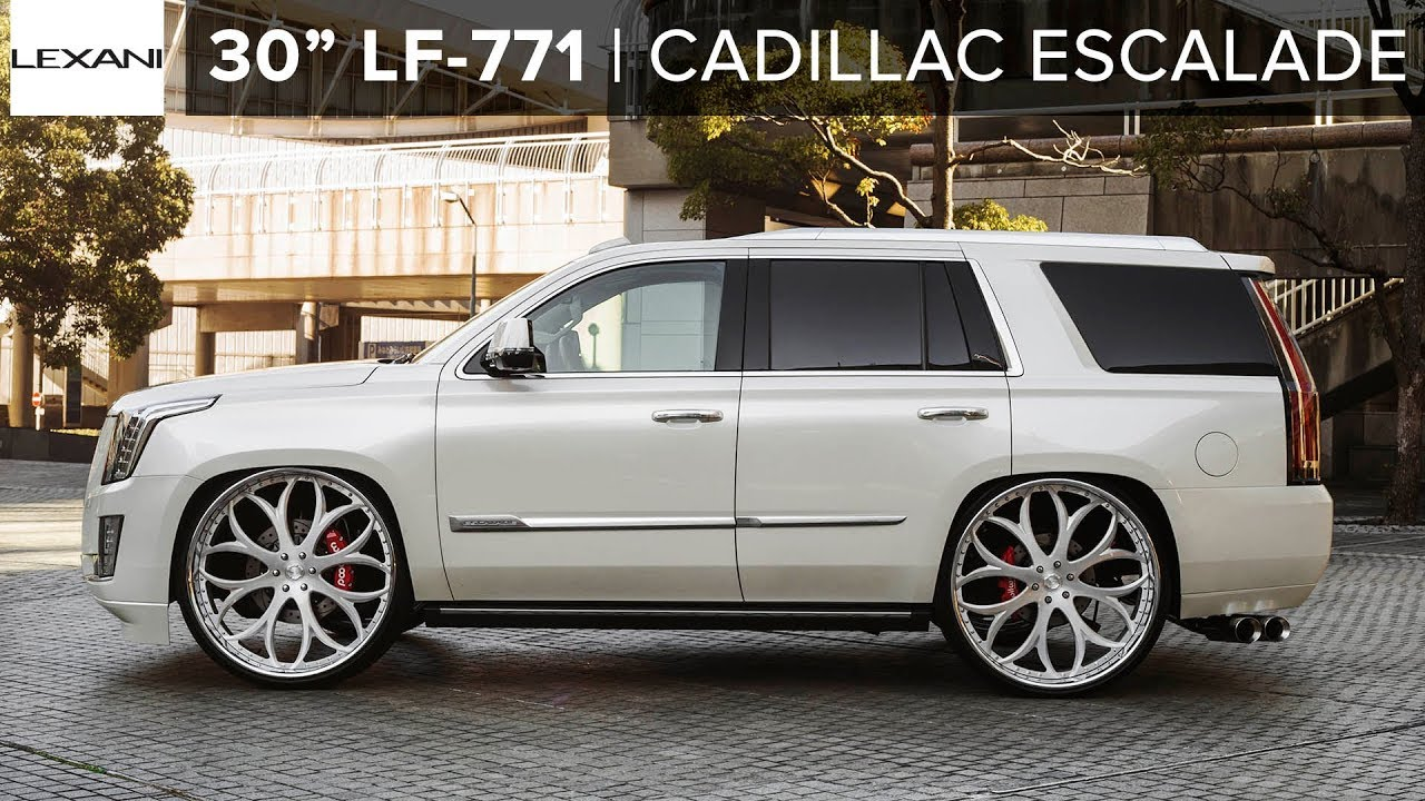 "Custom Cadillac Escalade with Air Suspension x 30"" Lexani ..."