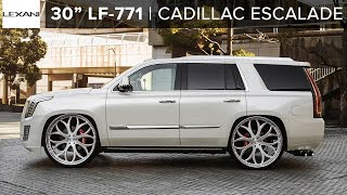 "Custom Cadillac Escalade with Air Suspension x 30"" Lexani Wheels"