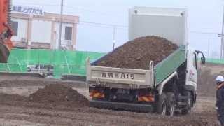 P&Jダンプ・大船渡・2014.3.13-現場No.3 (盛土場)