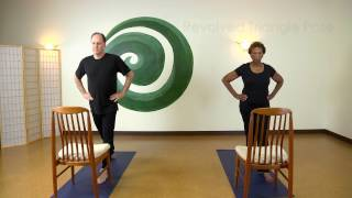 Easy Revolved Triangle Using A Chair with Steve Wolf E-RYT 500
