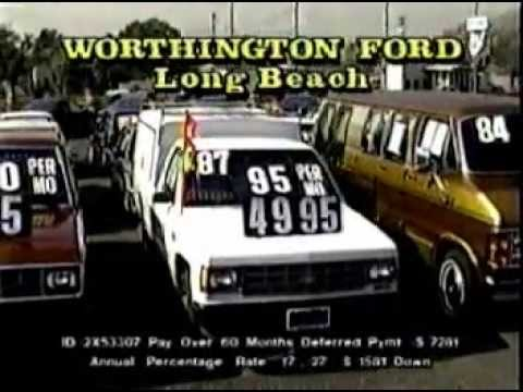 Cal Worthington Ford >> 1990 Cal Worthington Ford - Long Beach, CA. commercials - YouTube
