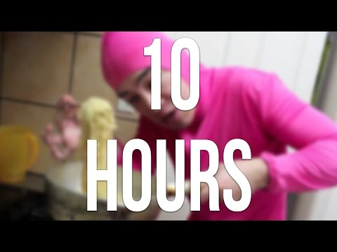 PINK GUY COOKS RAMEN AND RAPS 10 HOURS