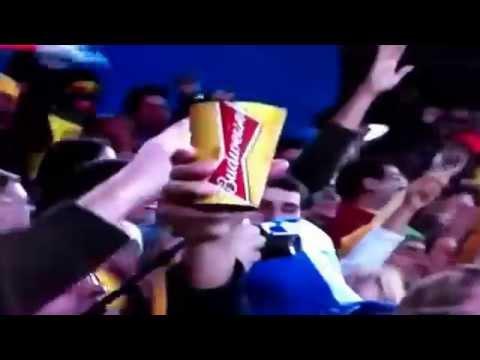 World Cup 2014. Ecuador vs Honduras 6/20/14 winning goal.