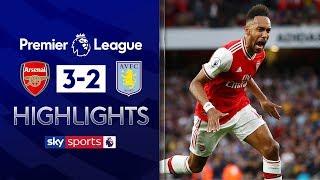 Ten-man Arsenal come from behind to win!   Arsenal 3-2 Aston Villa   Premier League Highlights
