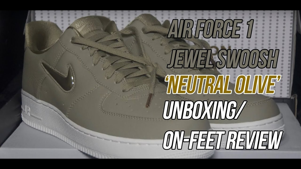 Air Force 1  07 Jewel Swoosh  Neutral Olive   27f07d4f3