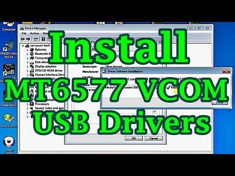 Mediatek MTK65xx USB VCOM Drivers Manual Installation On Windows PC