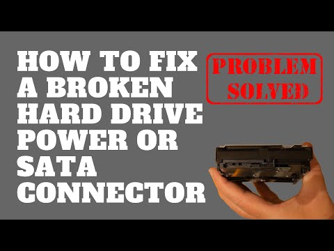 How to Fix a Broken Hard Drive Power or SATA Connector