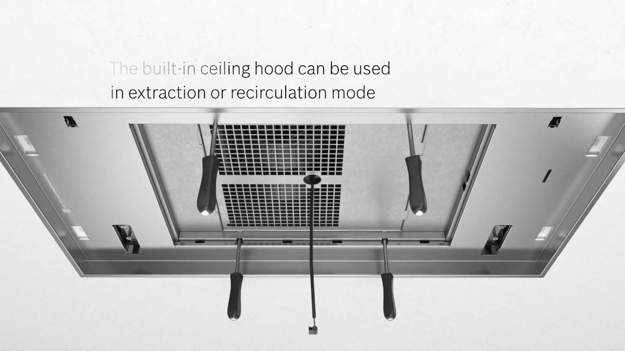 bosch ceiling ventilation hood installation guide