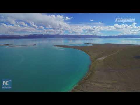 Stunning view of world's highest saltwater lake
