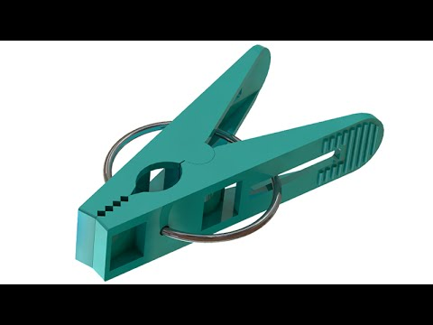 SolidWorks Tutorial #213: Clothespin (adaptable  spring)