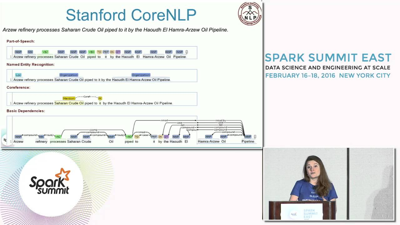 Relationship Extraction from Unstructured Text Based on Stanford NLP with  Spark