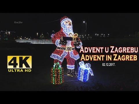 [4K] Advent u Zagrebu-Advent in Zagreb (02.12.2017.)