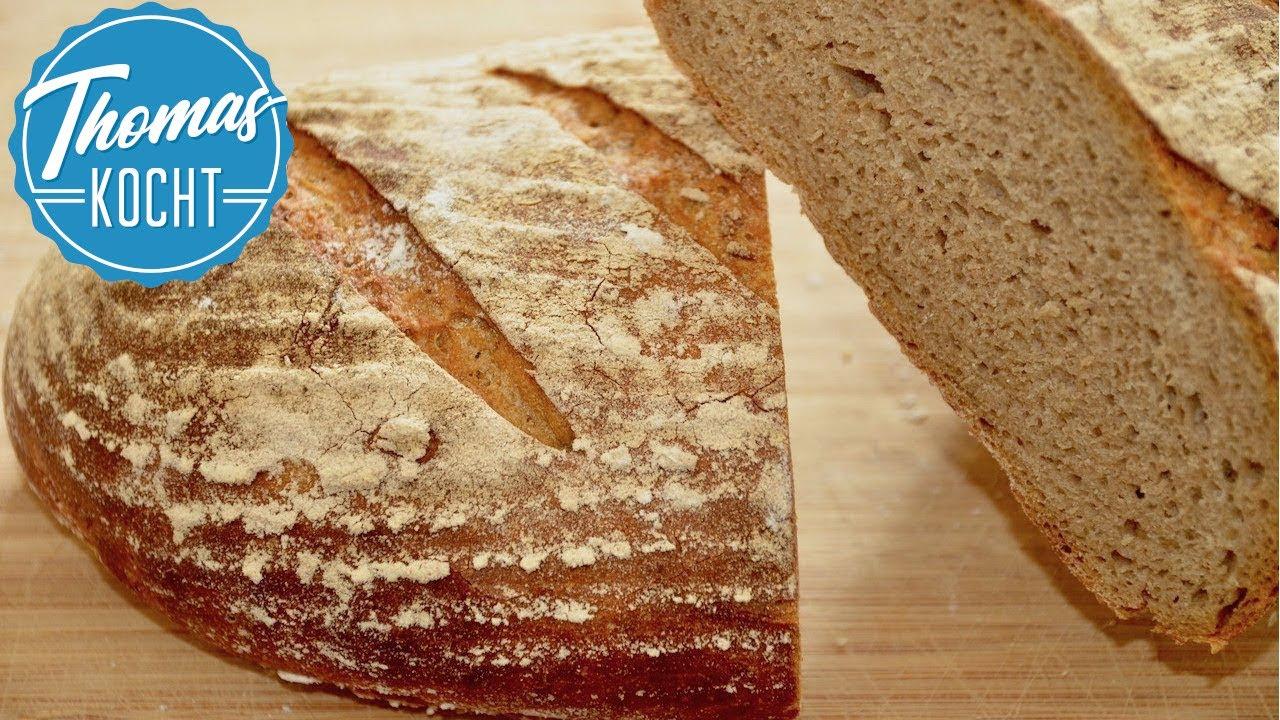 Roggenmischbrot Mit Sauerteig Backen Leckere Brot Rezepte Youtube