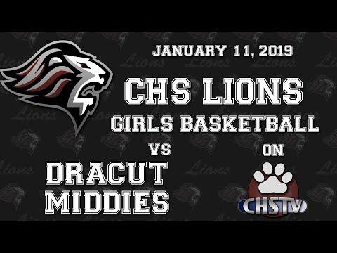 CHS Lions Girls Basketball vs Dracut Jan 11, 2019