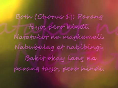 Parang Tayo Pero Hindi - Michael Pangilinan and Angeline Quinto (Lyric Video)