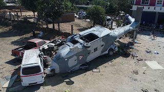 Mexican helicopter carrying officials crashes, killing 13 on ground