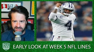 NFL Week 5 Lines Early Look, Picks, Betting Advice | Pick Six Podcast