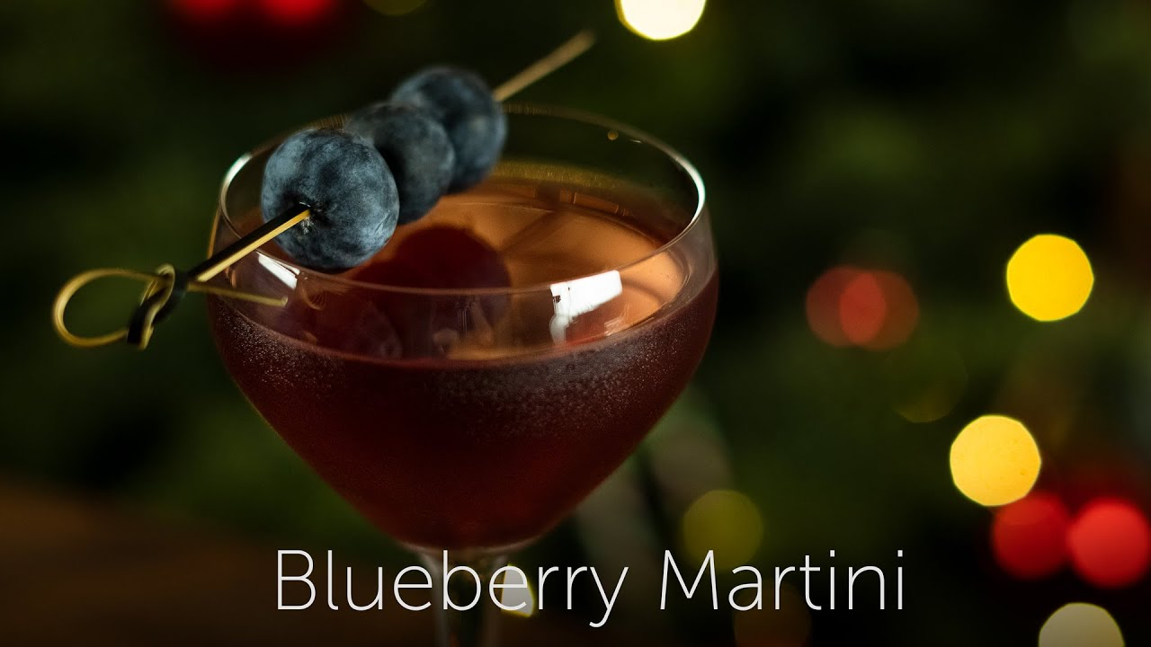 Blueberry Martini | 12 Days of Cocktails - Day 03