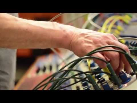 Frank Bretschneider experimenting with the Buchla Modular Synthesizer at EMS, Stockholm