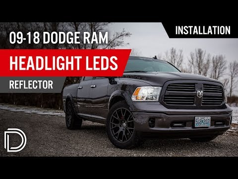 How to Install 2009-2018 Dodge Ram Headlight LEDs (Reflector)   Diode Dynamics