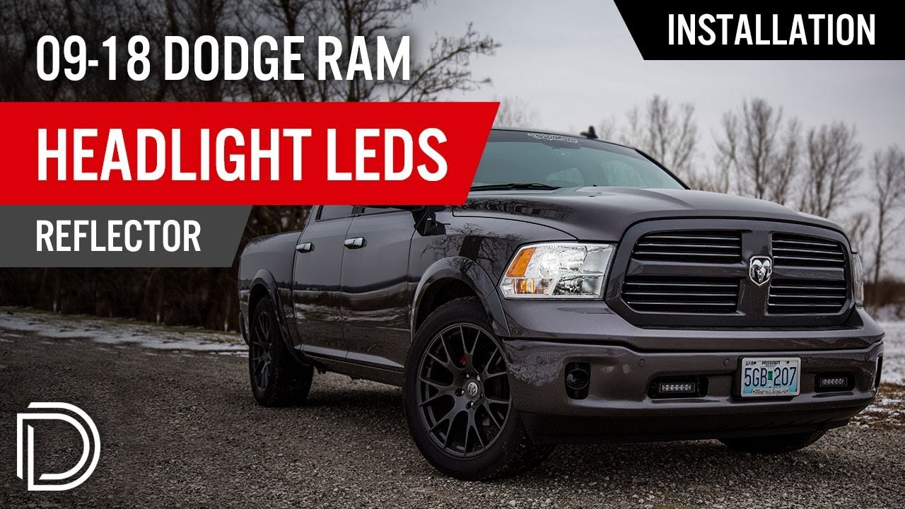 hight resolution of how to install 2009 2018 dodge ram headlight leds reflector diode dynamics