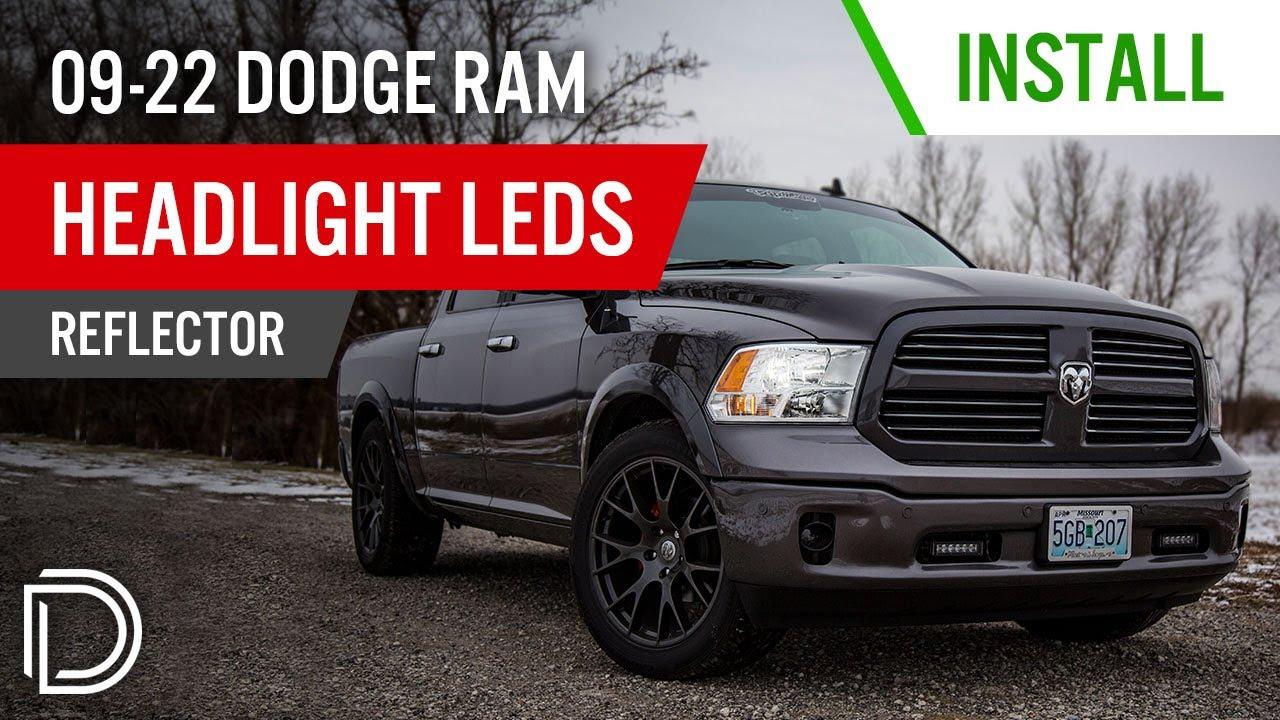 medium resolution of how to install 2009 2018 dodge ram headlight leds reflector diode dynamics