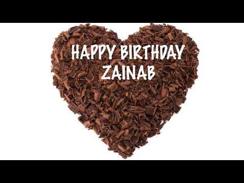 Zainab  Chocolate Birthday - Happy Birthday ZAINAB