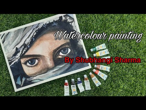 Watercolor painting | Artist Shubhangi #watercolor #eyedrawing #artistshubhangi