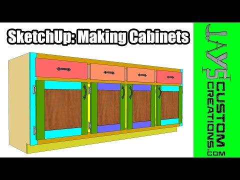 SketchUp: Making Cabinets - 168