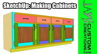 Sketchup: Making Cabinets - 168