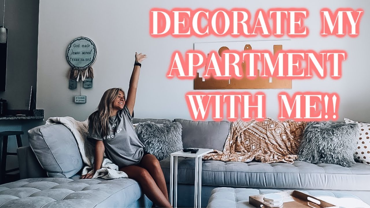 DECORATING MY APARTMENT - YouTube