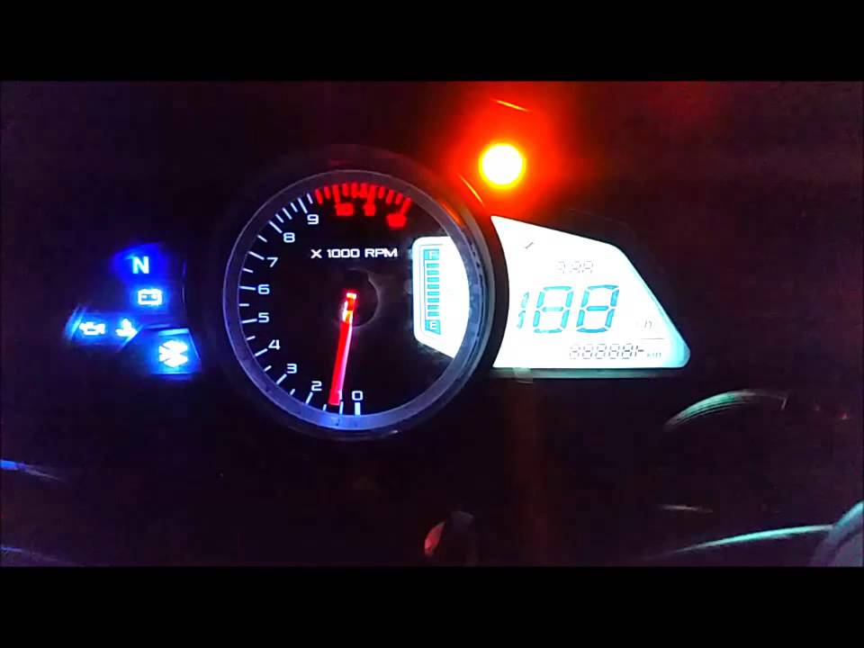 Tablero Pulsar 200NS modificado - YouTube