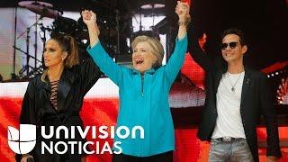 Marc Anthony y Jennifer Lopez estuvieron al frente de concierto en apoyo a Hillary Clinton