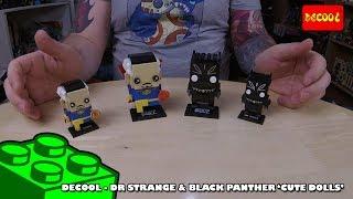 Bootlego: Decool 'Cute Doll' Brickheadz Clones - Dr Strange & Black Panther - Review