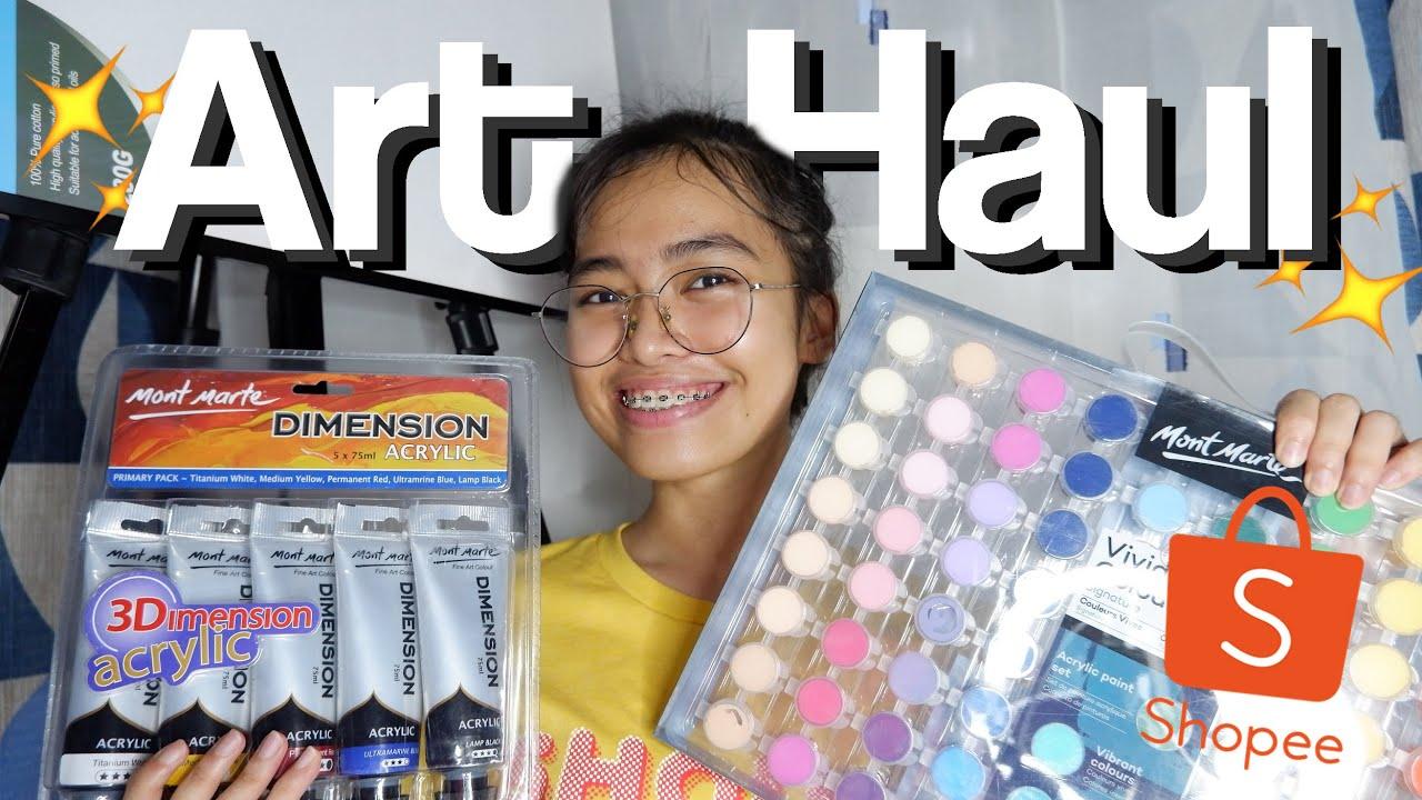 SHOPEE ART MATERIALS HAUL |Zell Mendoza