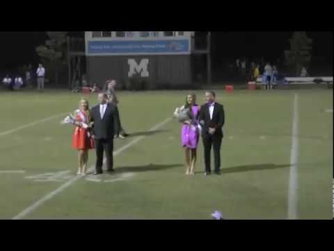 Gracey in Metrolina Christian Academy's Homecoming Ceremony on Friday, 9 22 17