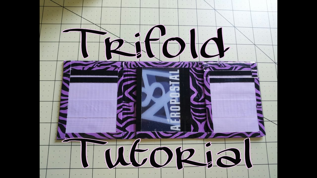Diy Duct Tape Trifold Wallet Tutorial No Sticky