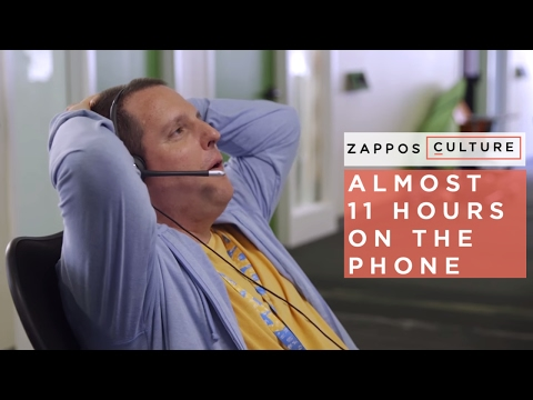 10 hours 43 mins | The Longest Customer Service Phone Call @ Zappos
