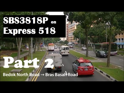 SBS3818P on Express 518: Part 2 [Bedok North Rd → Bras Basah Rd]