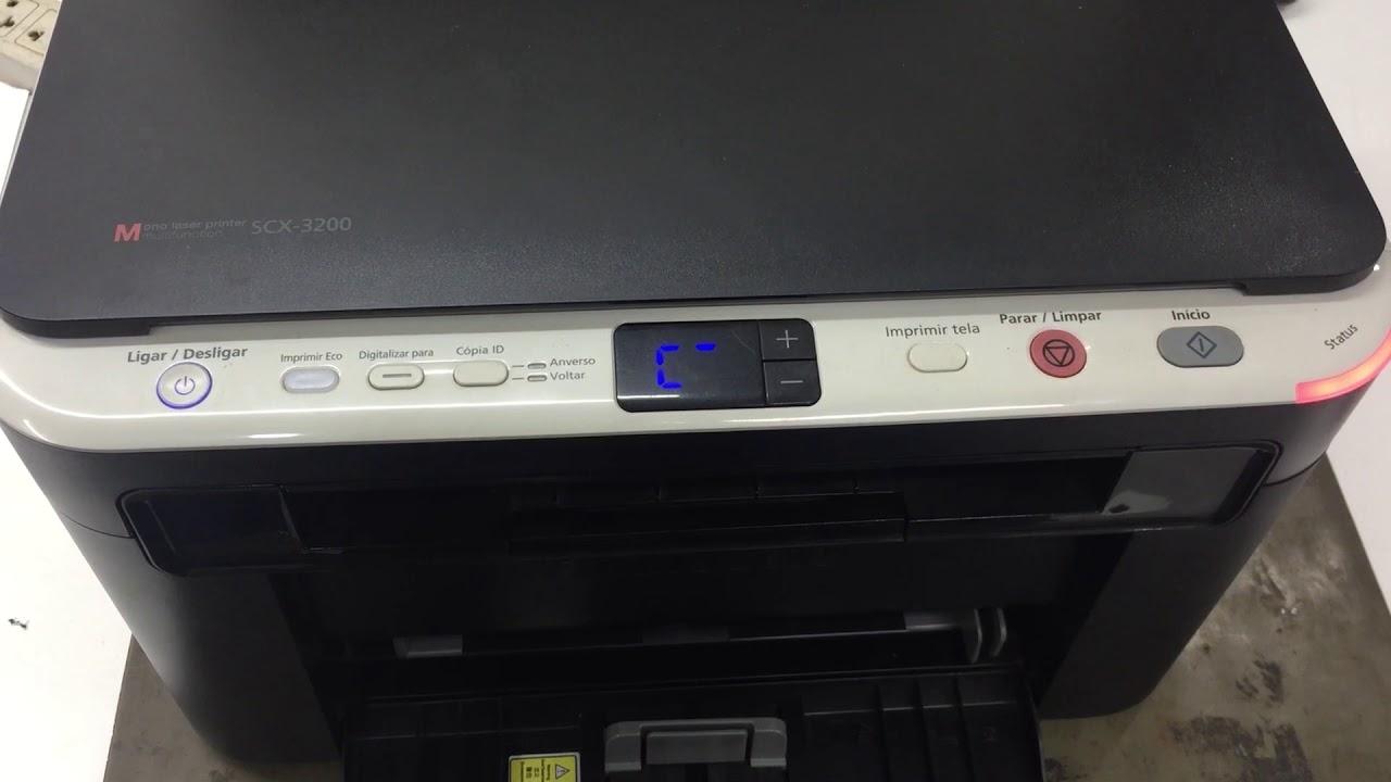 Reset Impressora Samsung Scx 3200 Luz Vermelha Youtube