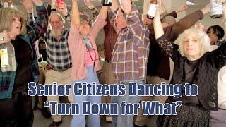 Senior Citizens Dancing to