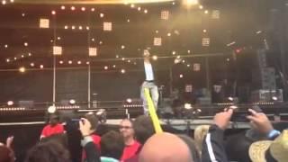 drapeau front polisario et Jamel Debbouze à la Fête de l