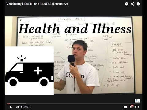 Vocabulary HEALTH and ILLNESS (Lesson 22)