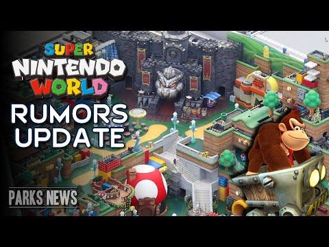 Super Nintendo World Opening News With Mario Cafe - Plus Rumors & Donkey Kong Coaster Update