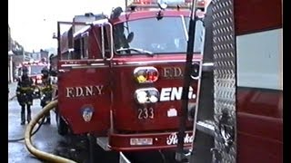 *** FDNY *** RIDE ALONG WITH L111 TO 10-75 - Laundromat - 1992.