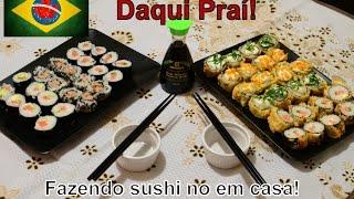 Como fazer sushi em casa! Cozinhando no Canada