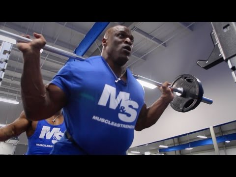 Ronnie Coleman & Cory Mathews Brutal Leg Workout (Post Hip Replacement!)